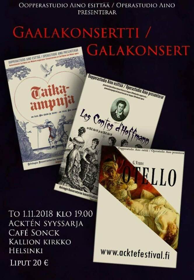 Oopperastudio Aino - Gaalakonsertti